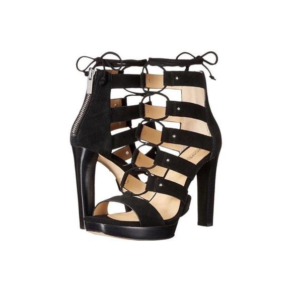 ce1087356922 Michael Kors Sofia Lace Up Platform Heels Black. M 5c28c8f20cb5aae440ab1a1a